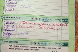 Записи из школьных дневников и тетрадей