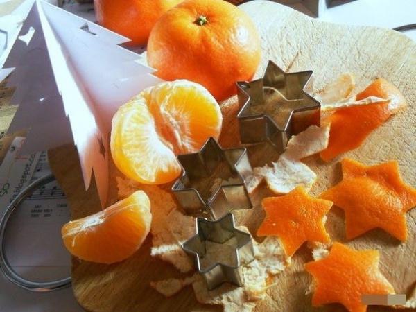 Новогодний декор из сушеных корочек апельсина/мандарина.