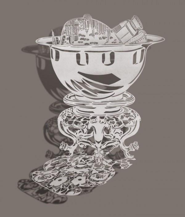 Сложные бумажные рисунки Бови Ли