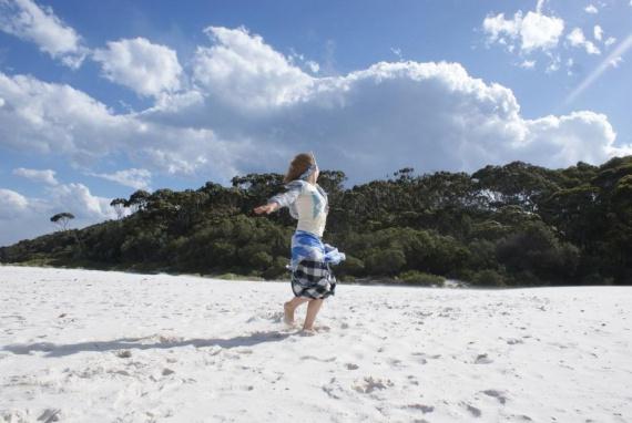 Белоснежное сияние пляжа Hyams Beach, Австралия