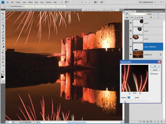 Фейерверки: фотография и монтаж в Photoshop