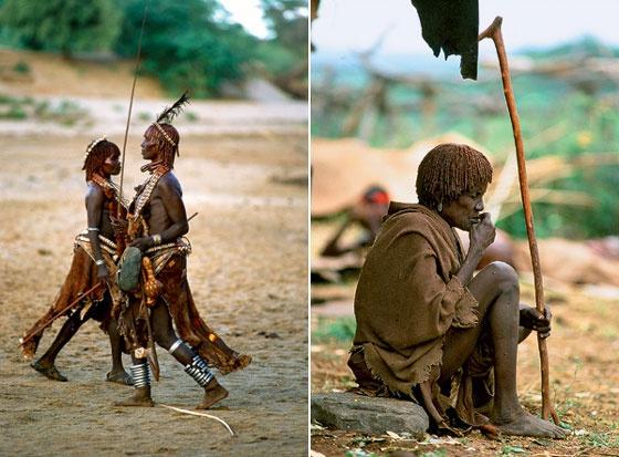 Удары судьбы: за что мужчины эфиопского племени бьют своих женщин